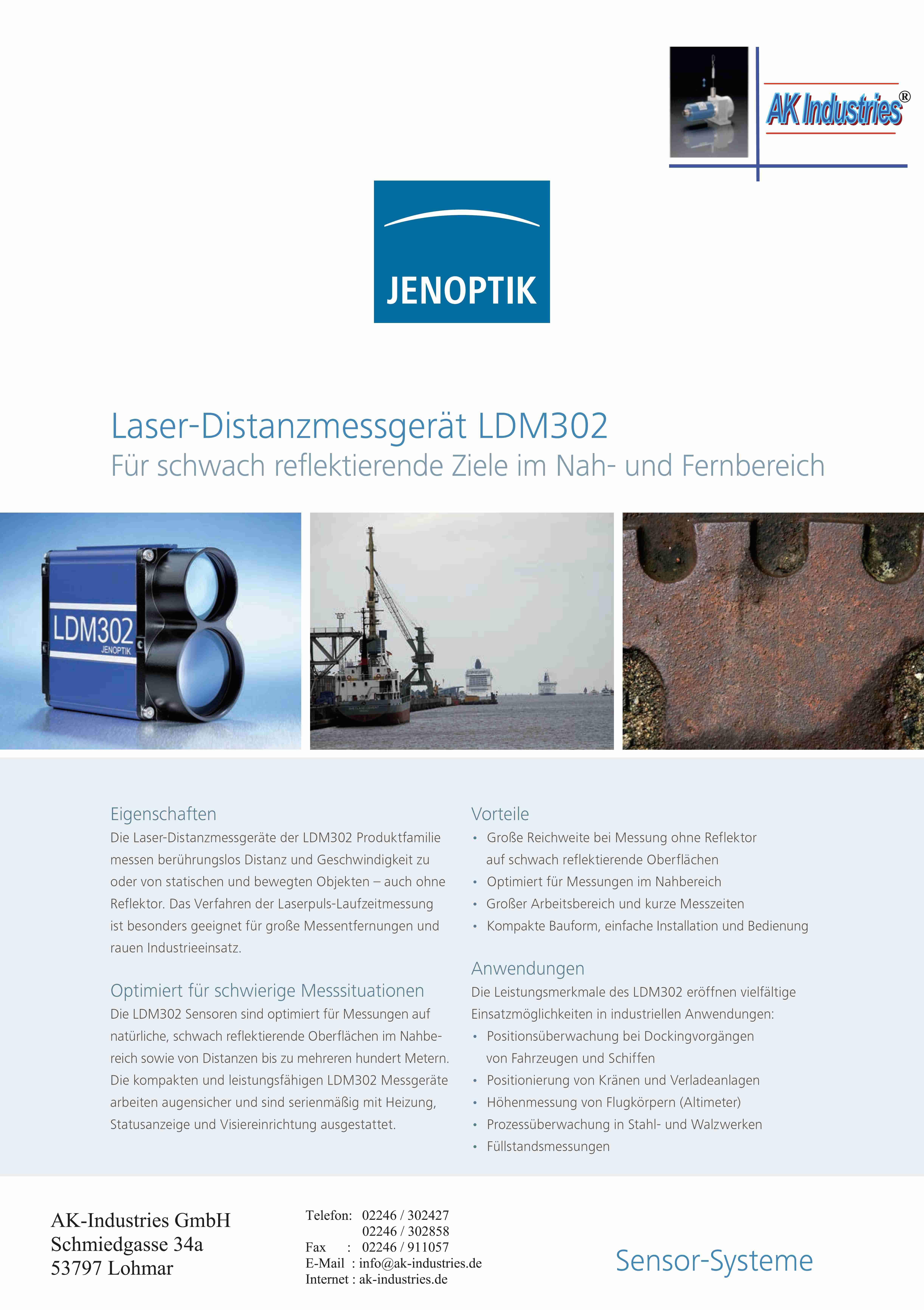 Laser Distanzmessgerät LDM302