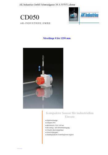 Wegsensor CD050
