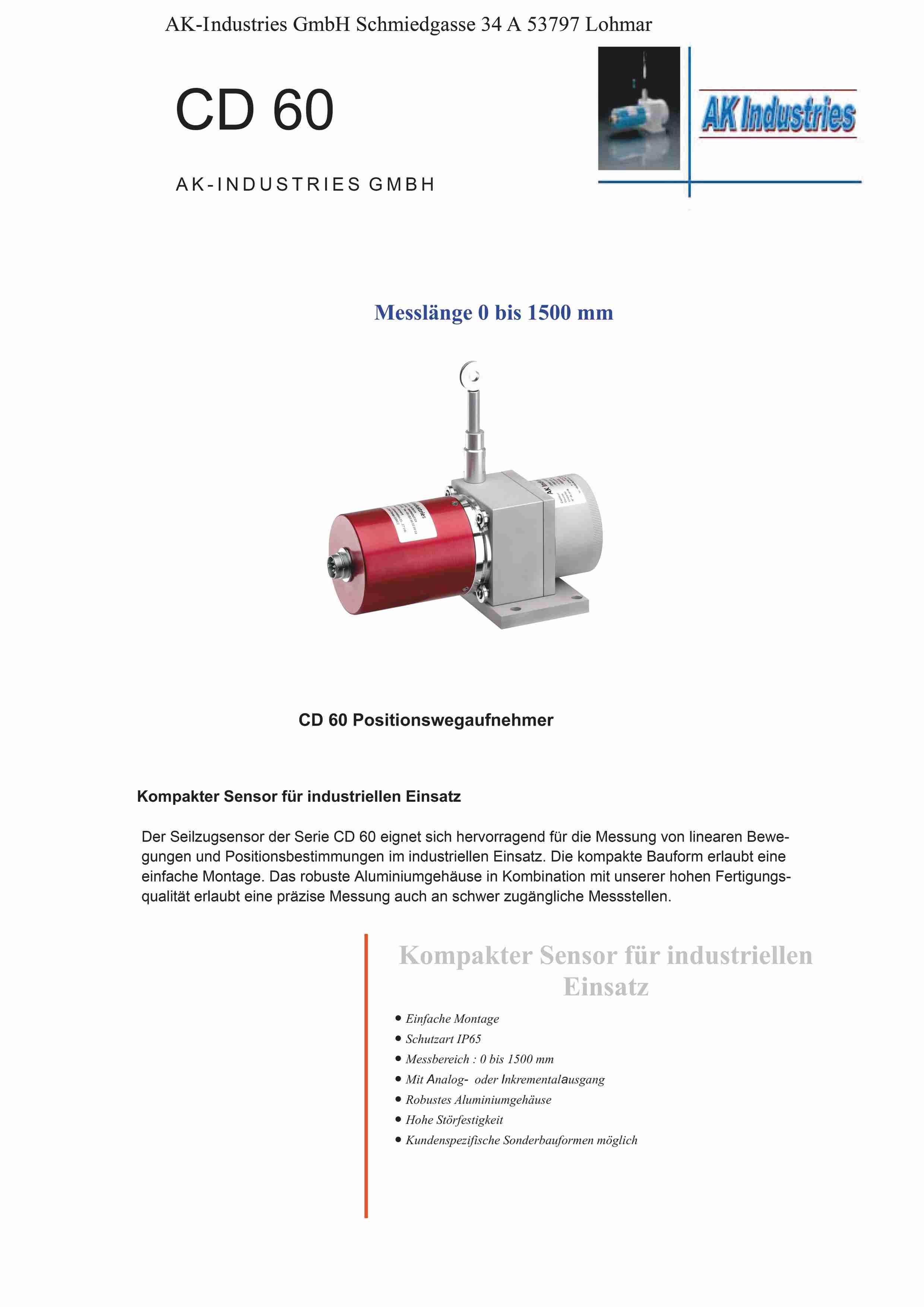 Wegsensor CD60