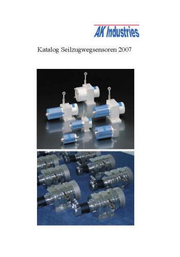 Wegsensor Seilzugwegsensor Katalog AK-Industries