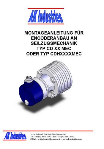 Montageanleitung Wegsensor Seilzug Anbau Encoder