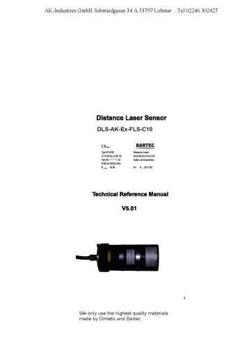 EX-Laser _ Mit diesem Distanz-Sensor messen Sie berührungslos absolute Distanzen bis 30m. Wartungsfrei messen Sie damit auf natürliche Oberflächen mit einer Genauigkeit von 3mm. Sie ermitteln die Position von schwer zugänglichen Objekten und solchen mit sehr hohen Oberflächentemperaturen. Ebensoeinfach und exaktmessen Sie Distanzen inagressiver Umgebung. Die Anwendung in novativster Lasertechnologie ermöglicht eine sehrkompakte Bauform,was eine platzsparende Montage erlaubt. Die EDS-C Distanz-Sensoren verfügen über ein robustes Aluminiumgehäuse der Schutzklasse IP65. Weiter können diese Distanz-Sensoren bei Umgebungstemperaturen von-10°C bis +50°C betrieben werden. Das hervorragende Preis/ Leistungsverhältnis ist einweiteres Merkmal des EDS-C Distanz-Sensors.Der elektrische Anschluss der EDS-CDistanz-Sensoren erfolgt übereinen standardisierten 5-poligen M12 Sensorstecker. Für die Messwertausgabe steht eins kalierbarer Analogausgang zur Verfügung, womit eine kostengünstige Anbindung an einebeliebige Steuerung sichergestellt ist.